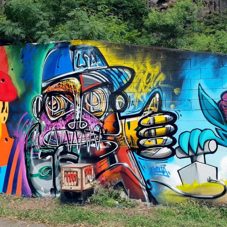 Konix, street artiste - Ile de la Réunion 974